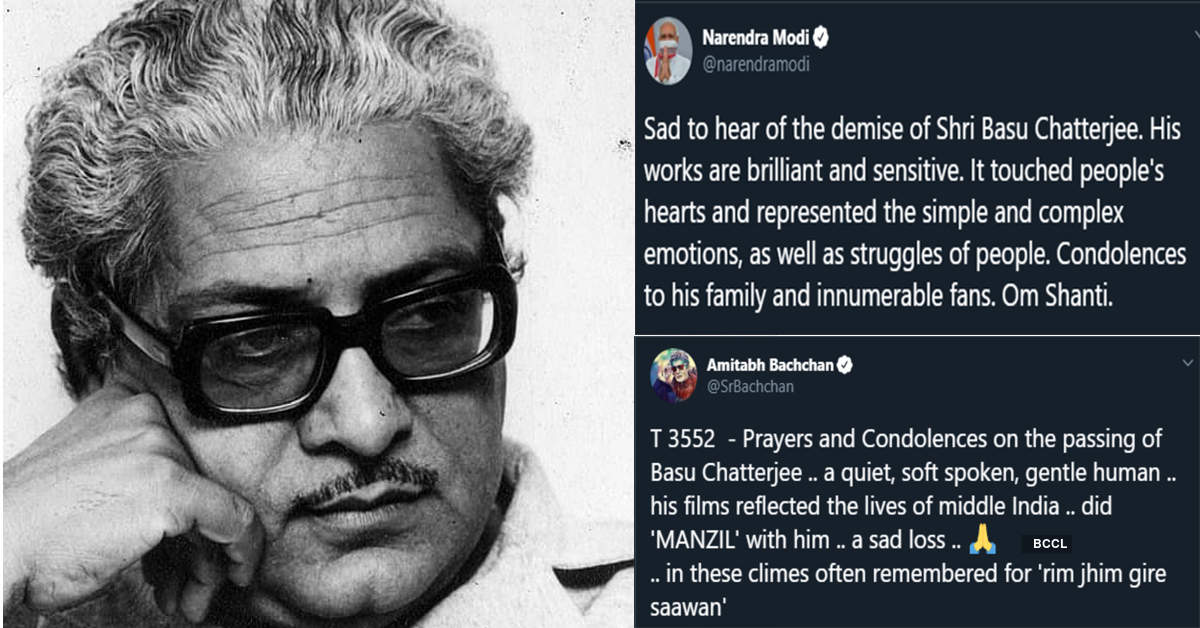 PM Modi, Big B, Hema Malini, Amol Palekar, Lata Mangeshkar and others remember filmmaker Basu Chatterjee