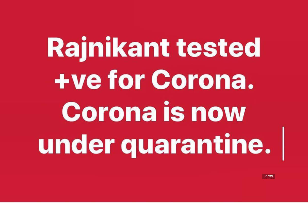 Rohit Roy gets brutally trolled for posting 'Rajinikanth tested positive for corona' on social media