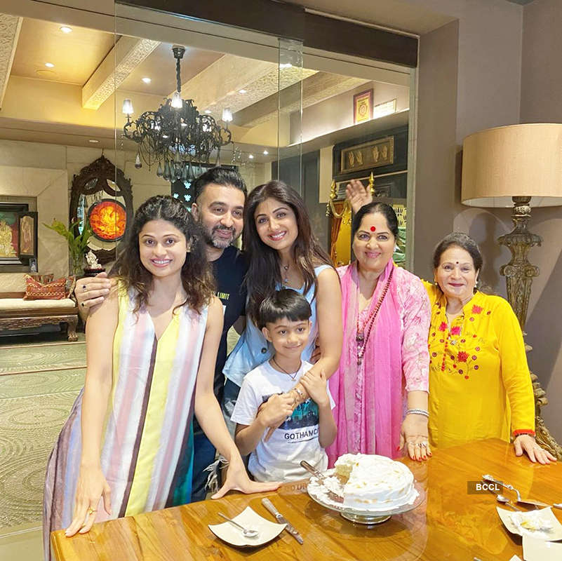 Inside pictures from Shilpa Shetty's birthday celebration with family