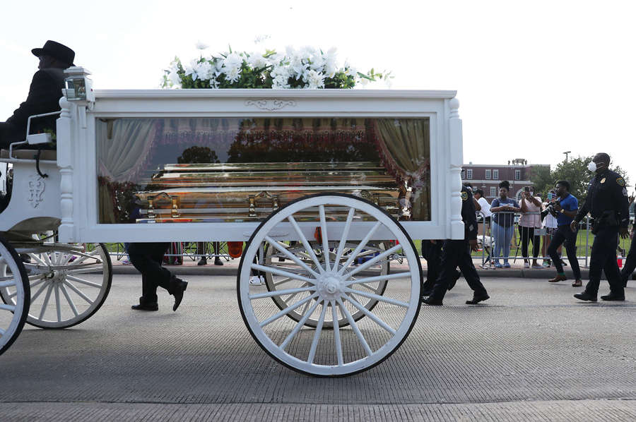 George Floyd's funeral: Thousands of mourners pay last respects in Houston