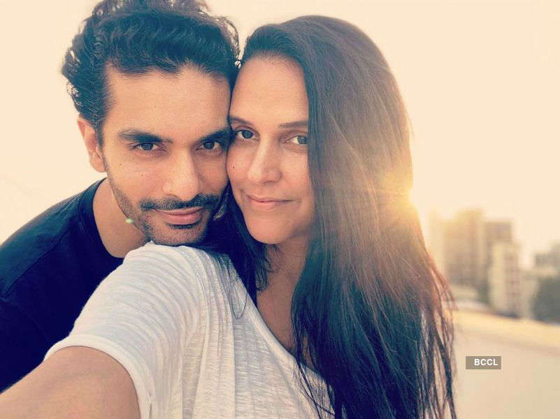 Neha Dhupia's sun-kissed pictures with husband Angad Bedi