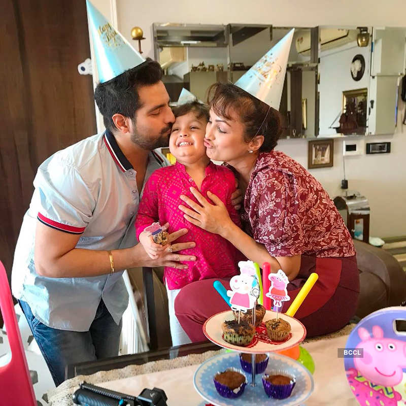 Karan and Nisha celebrate their son Kavish's third birthday party