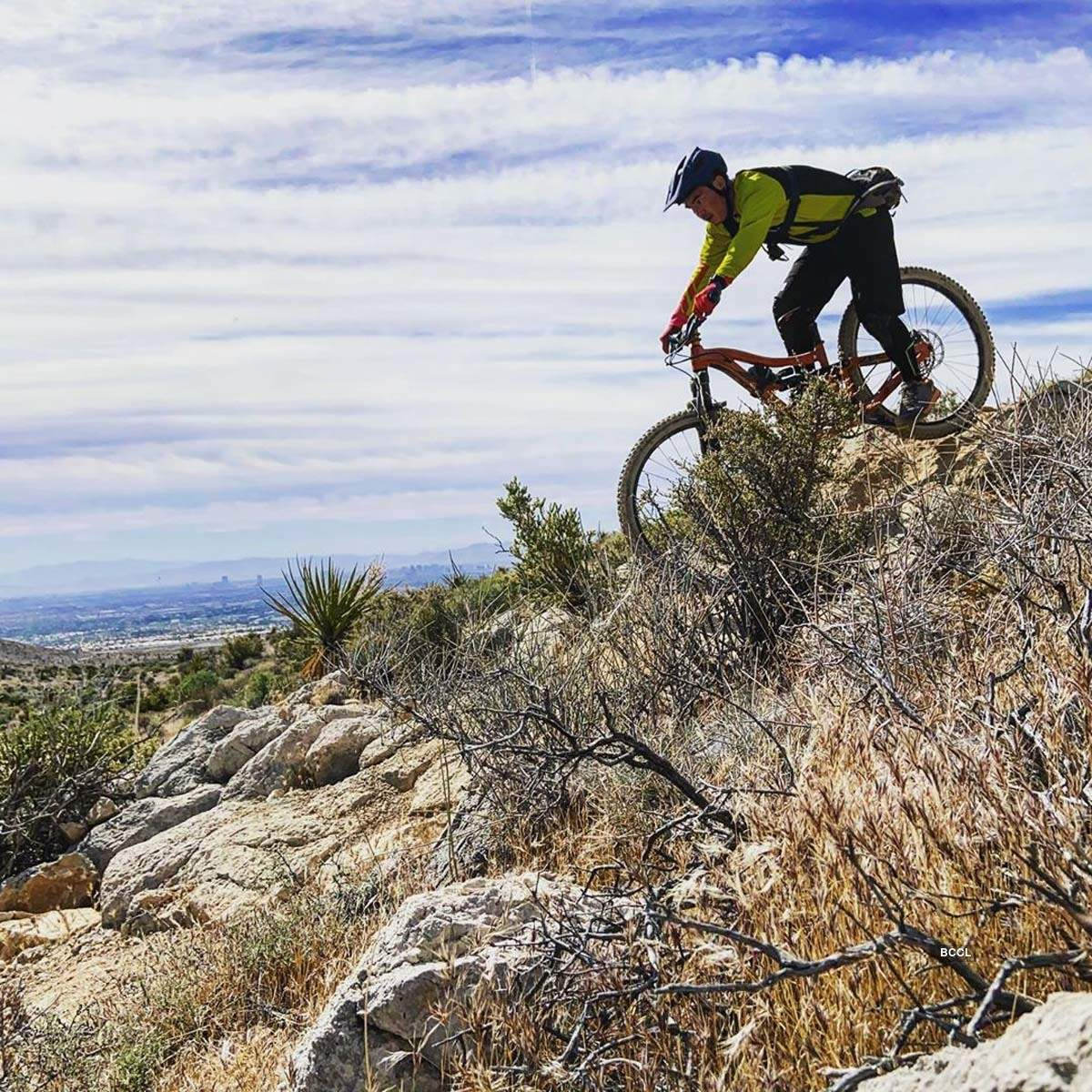 These breathtaking pictures of thrill-seeking mountain bikers will leave you awestruck