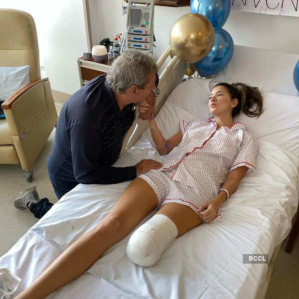 Beauty queen had her leg amputated to avoid further complications