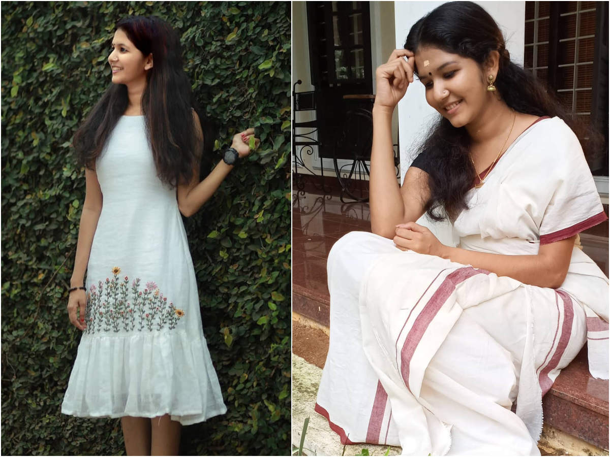 From Kerala Saree To Linen Dress Uppum Mulakum Fame Juhi Rustagi Gives Major Fashion Goals With Her Outfits The Times Of India
