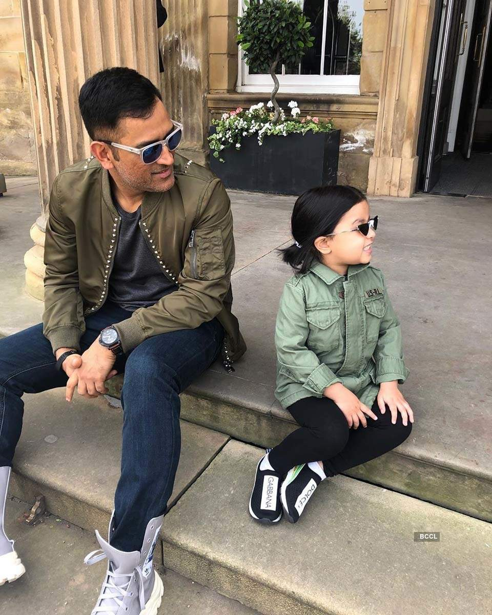 Candid pictures of the coolest dads from the sports fraternity with their children