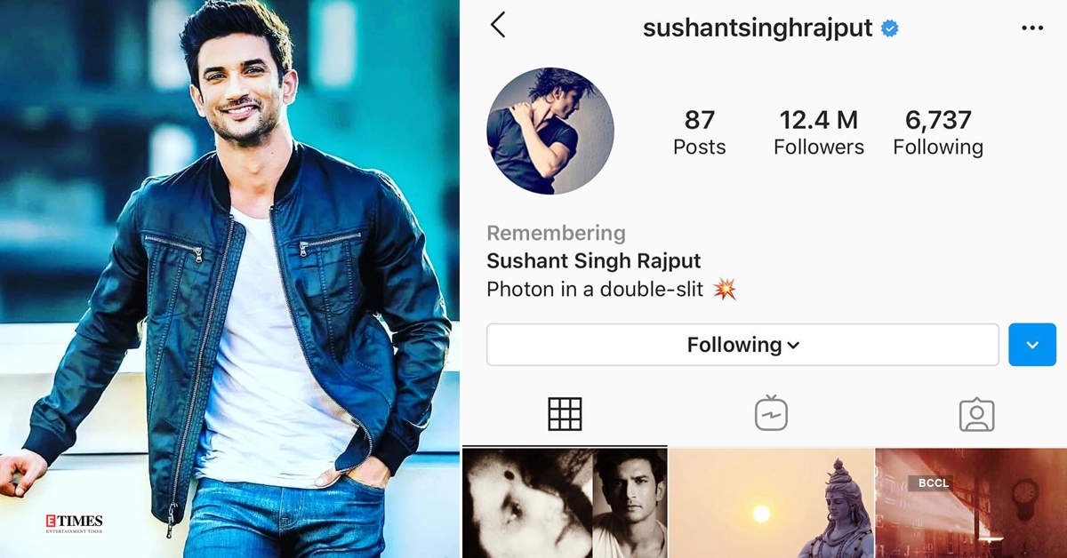 Late Bollywood actor Sushant Singh Rajput's Instagram account memorialised