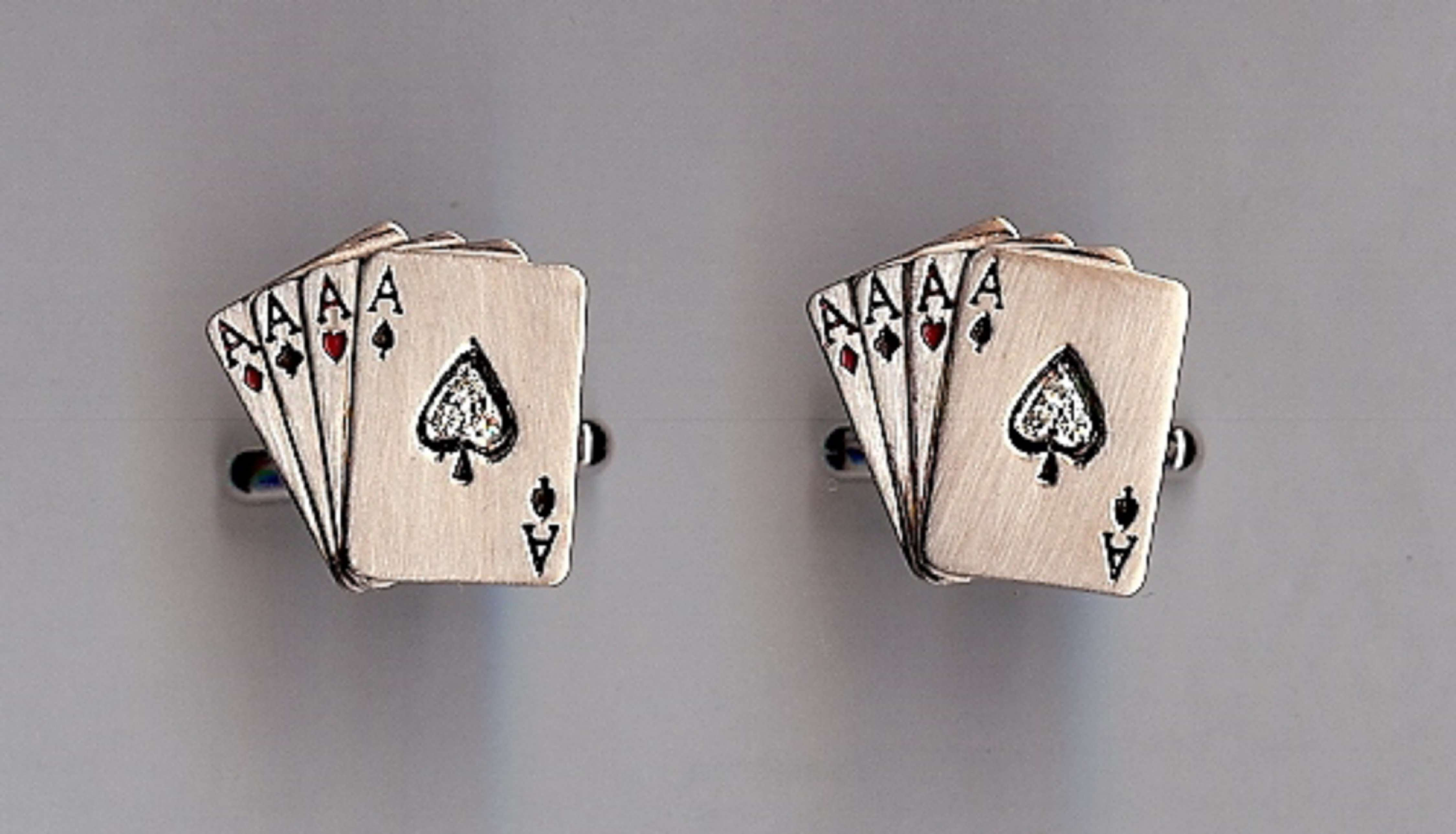 All Aces Cufflinks by Jewellery Designer Archana Aggarwal