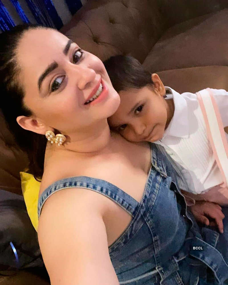 Jay and Mahhi ring in their son Rajveer's birthday in style