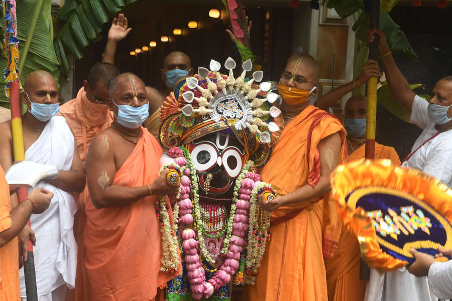 Lord Jagannath Rath Yatra taken out without sea of devotees