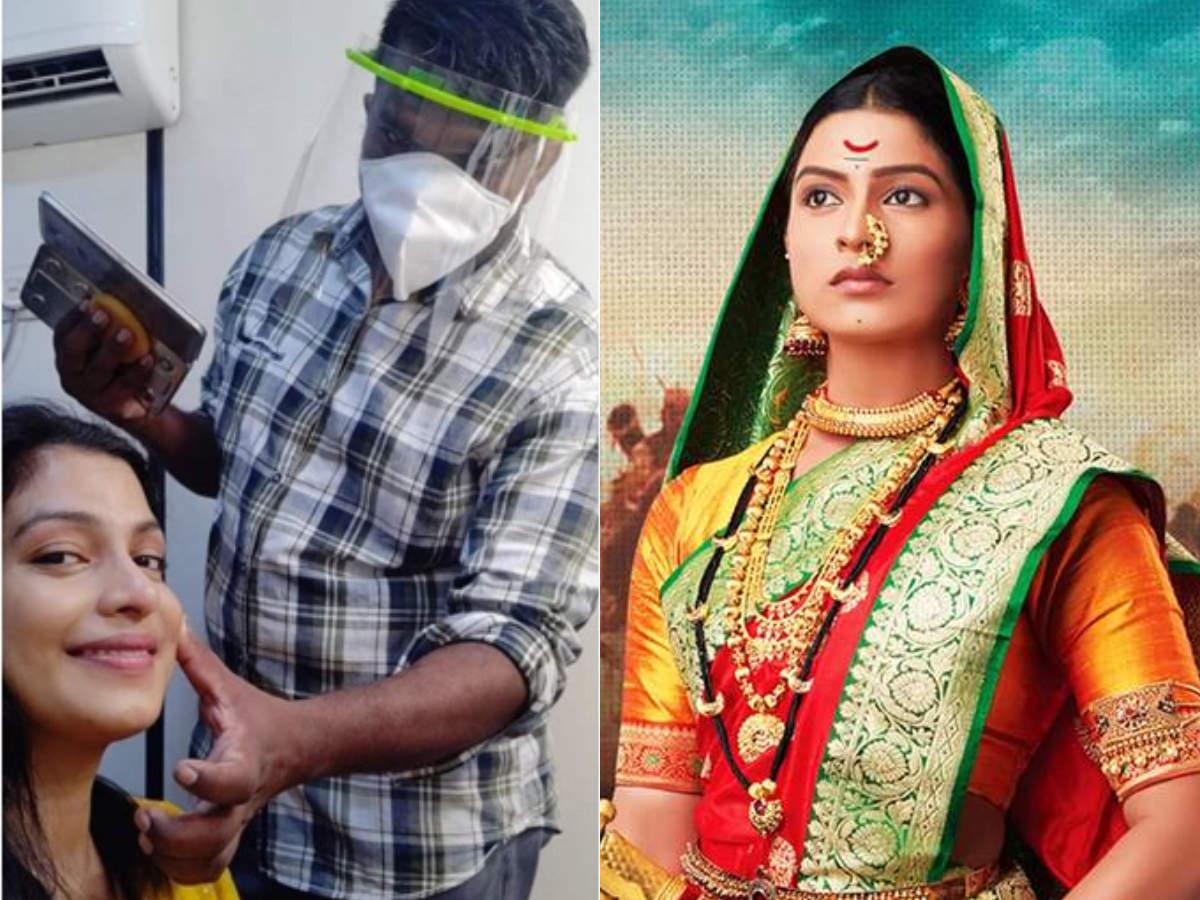 Amruta Pawar get ready taking precautionary measures for Swarajya ...