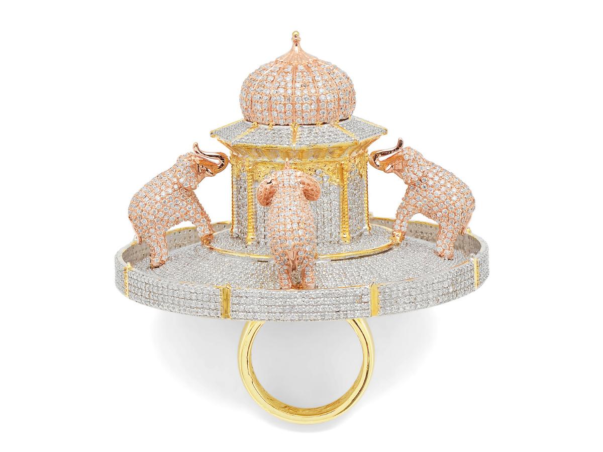 Jewels of Jaipur Taj Mahal ring
