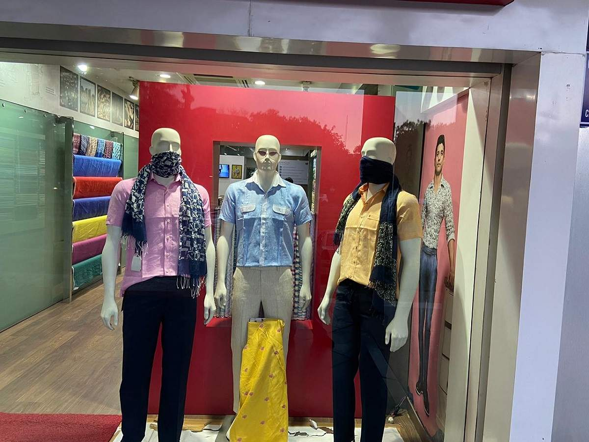 Apparel retailer in Sector 8, Chandigarh recently changed the style of mannequins