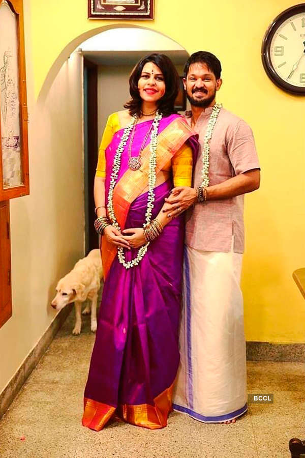 Nakkhul Jaidev's wife Sruti's baby shower pictures go viral