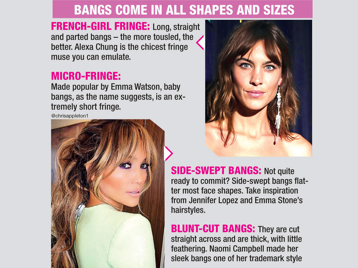Bangs come in all shapes and sizes