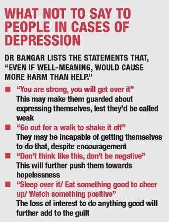 What not to say to individuals struggling with depression