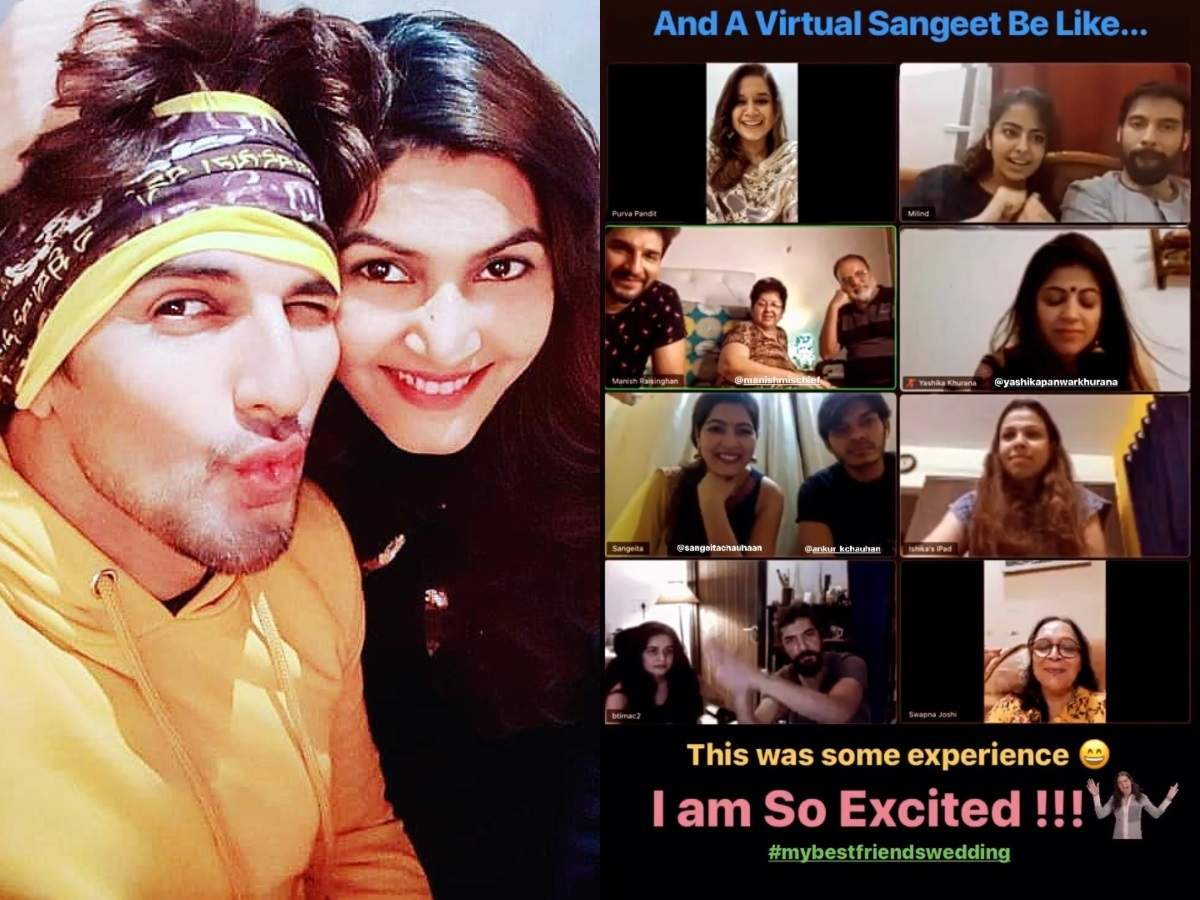 Manish Raisinghan kickstarts virtual pre-wedding ceremonies with bride Sangeita, best friend Avika