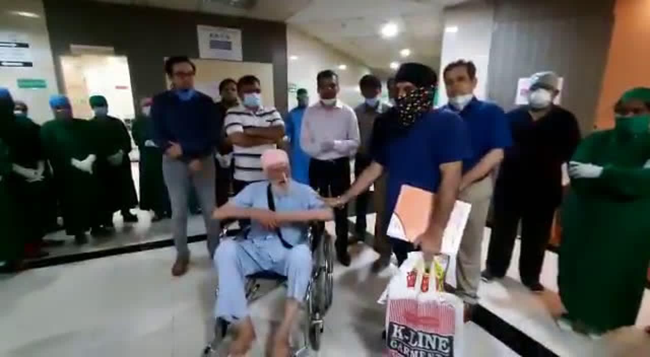 COVID-19: 103-year-old Sukhasingh Chabria gets farewell from Thane's Kaushalya hospital