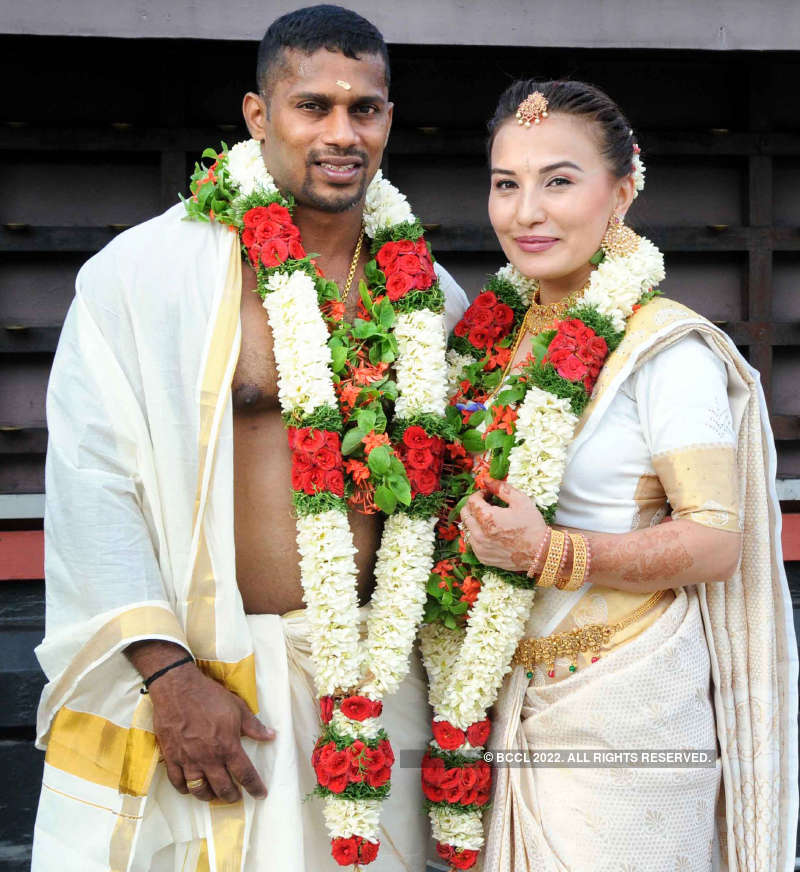 Inside pictures from Chitharesh Natesan and Nasiba Nurtaeva's wedding ceremony