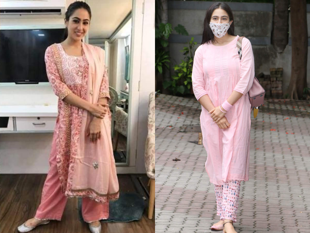 5 times Sara Ali Khan proved pink salwar kameez is her favourite ...