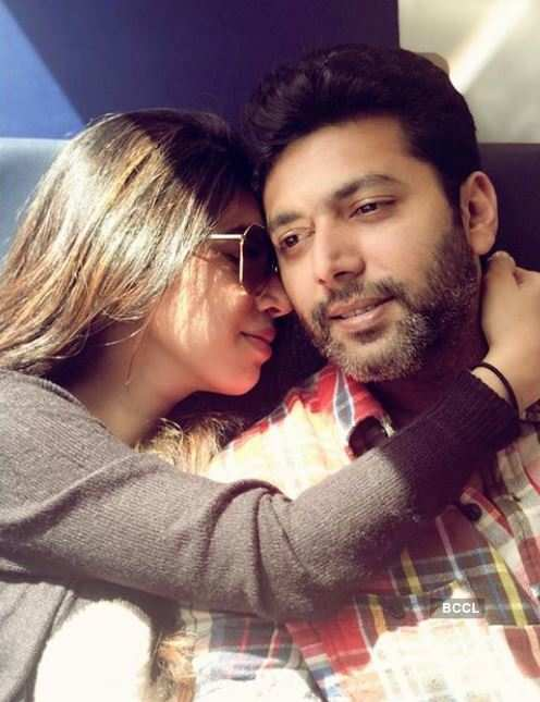 These pictures of Jayam Ravi & Aarti give us major couple goals