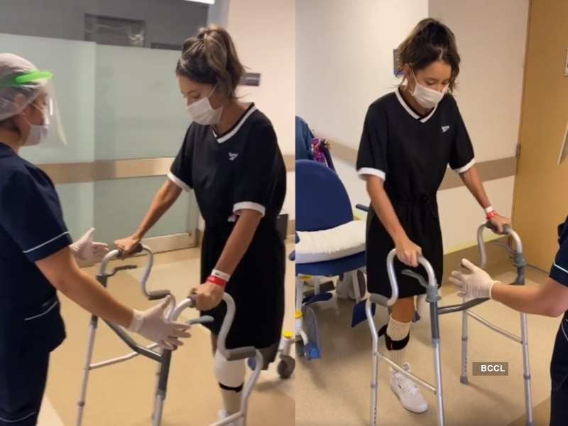 Former beauty queen walks again after left leg being amputated