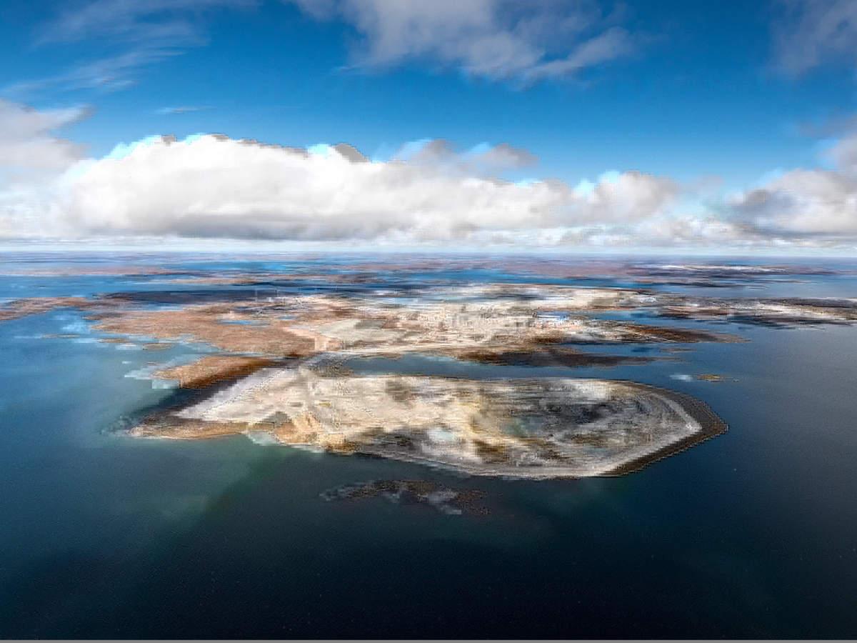 Diavik, Aerial shot, Canada © Rio Tinto 2020