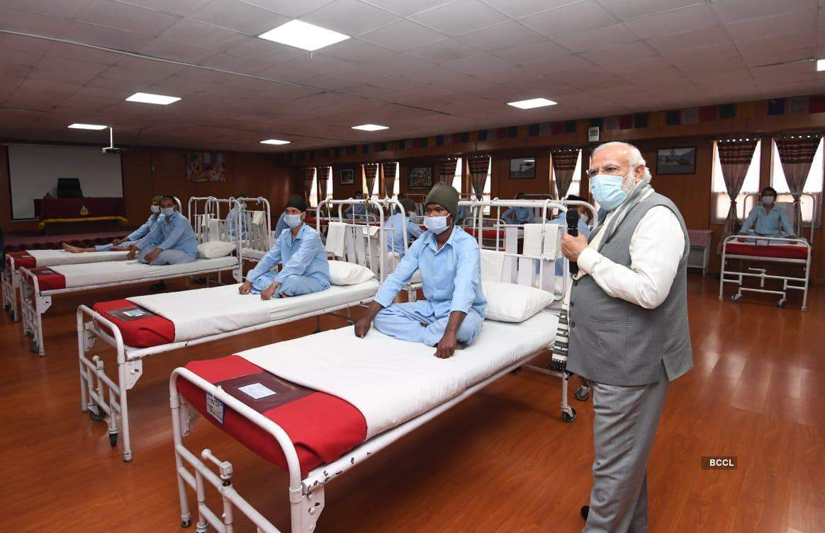 PM Modi meets soldiers injured in Galwan Valley clash