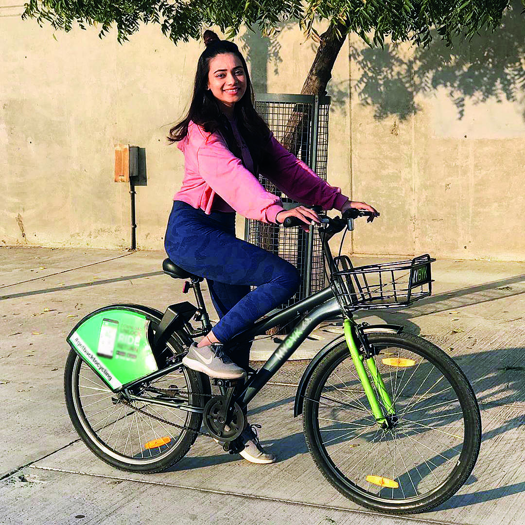 Dimple Biscuitwala Cycling