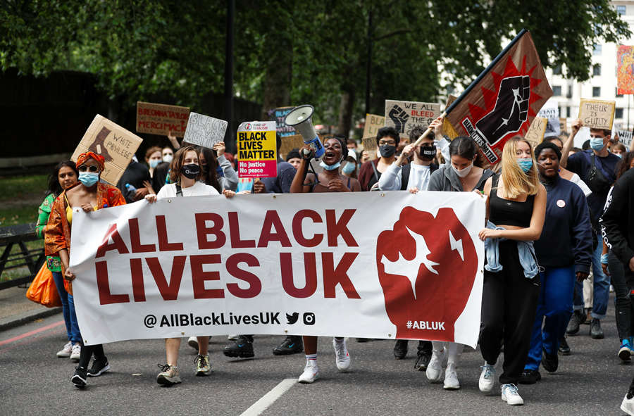 Anti-racism protest held in London