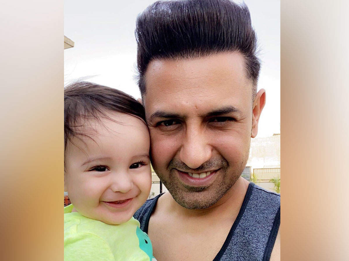 The happy picture of Gippy Grewal with his youngest son Gurbaaz is the best thing to kill your Monday blues