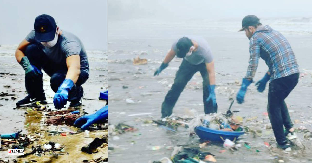 Netizens hail Randeep Hooda as he steps out to clean Versova beach amid coronavirus outbreak