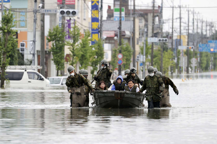 At least 50 dead in Japan flood