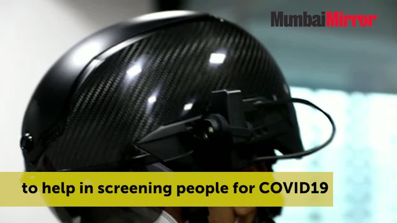 Mumbai: These smart helmets can screen 200 people for COVID-19 virus in a minute