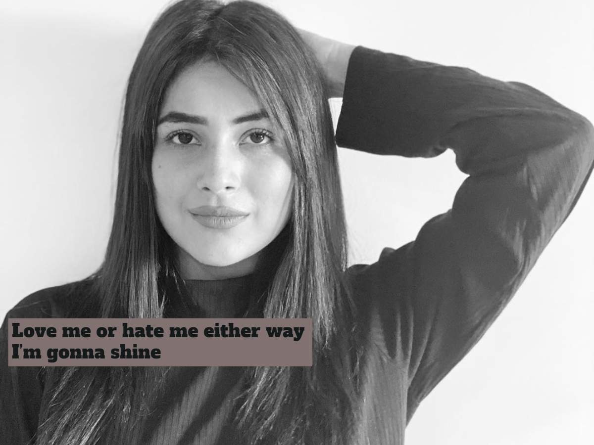 Shehnaz Gill's latest posts do all the talking; the Bigg Boss 13 contestant is giving positive vibes