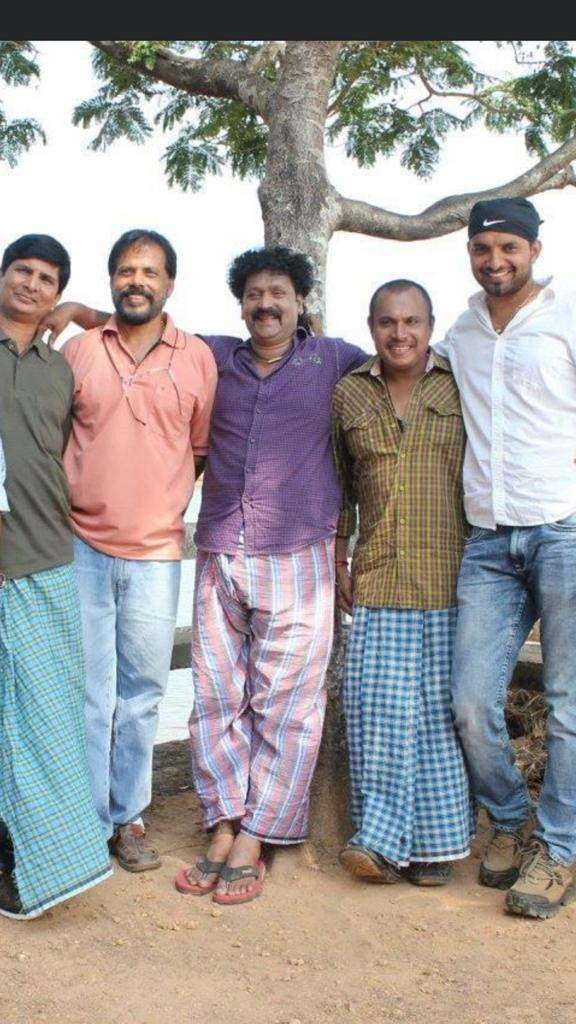 Director Veerendra Shetty with the four actors