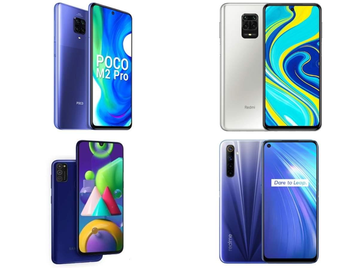 Top smartphones under Rs 15,000 you may buy: Poco M2 Pro vs Xiaomi Redmi Note 9 Pro vs Realme 6 vs Samsung Galaxy M21