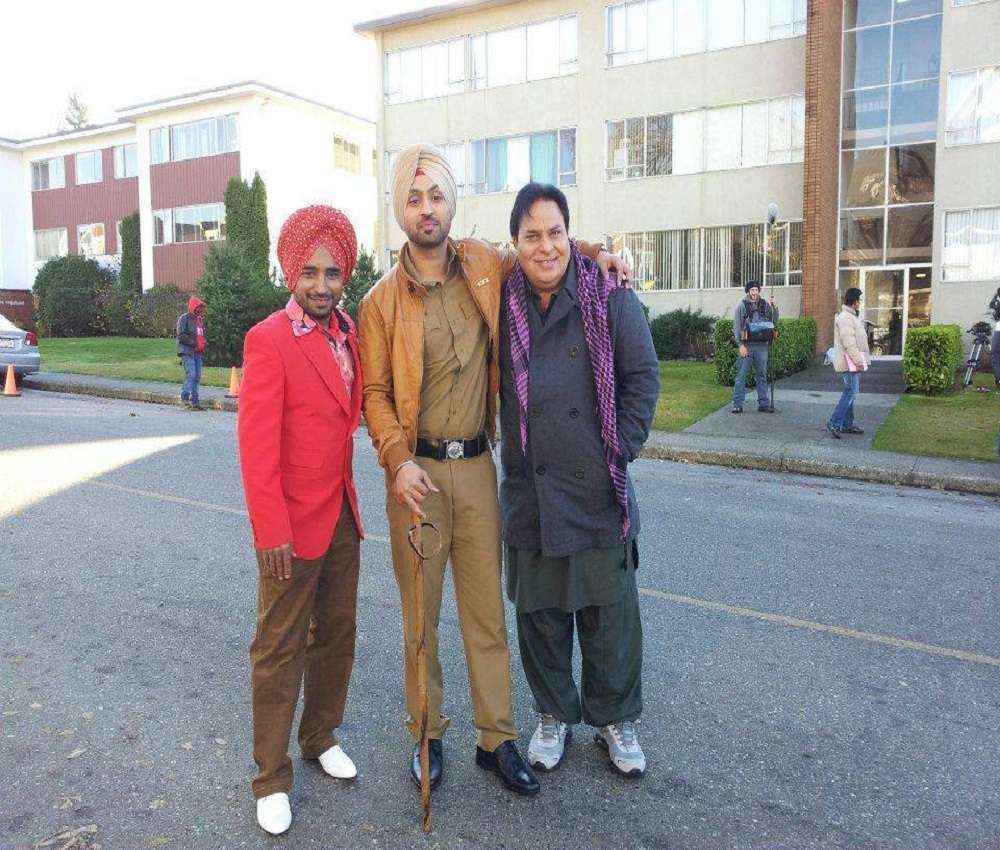 Rana Jung (right) with Rana Ranbir and Diljit Dosanjh