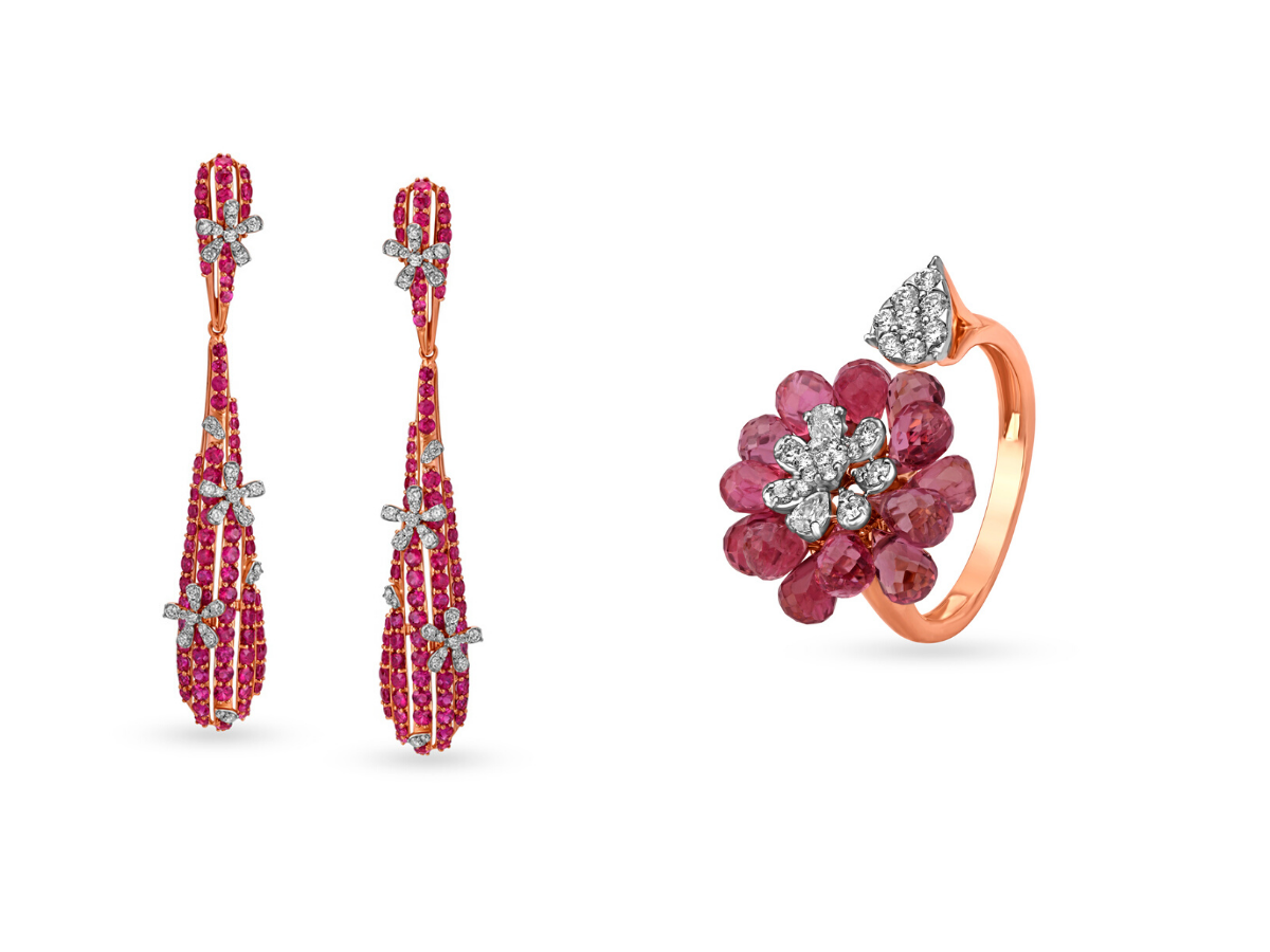 Tanishq aarambh floral collection