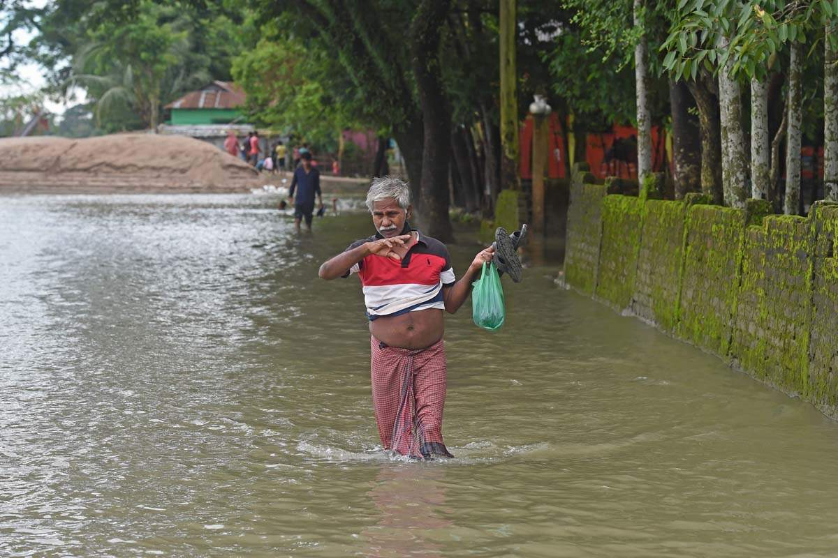 Catastrophic heavy floods in Bangladesh displace millions