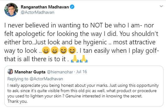 madhavan post