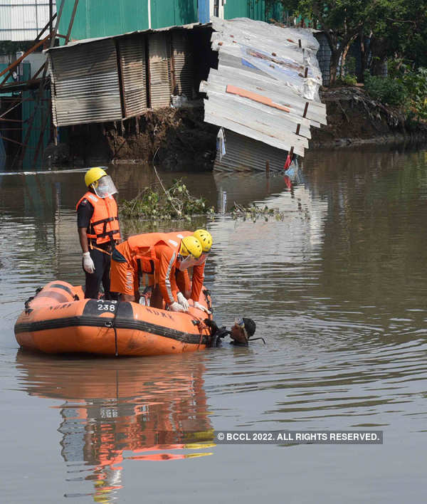 Four die, houses collapse in Delhi's first heavy monsoon rainfall