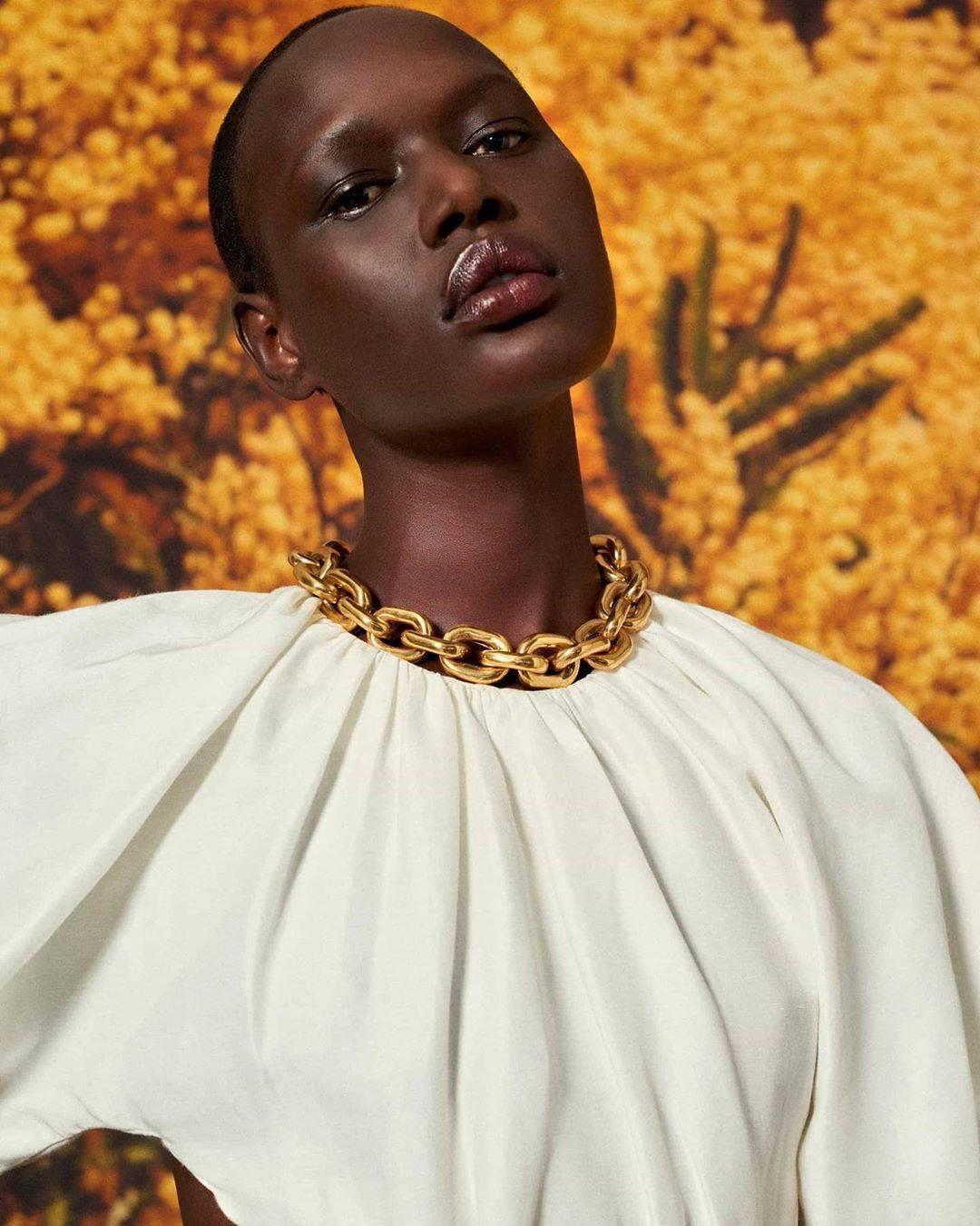 Super model Ajak Deng known for her dark excellence tone