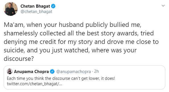 chetan bhagat post