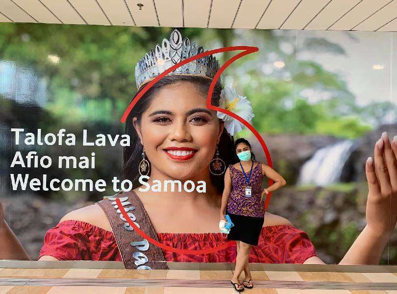 Samoan beauty queen has been helping her country stay Covid-free
