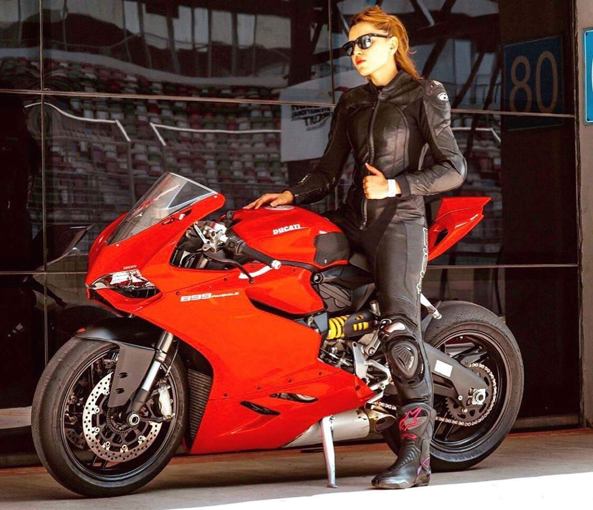 Glamorous pictures of Dr Neharika Yadav, the dentist who moonlights as a superbiker