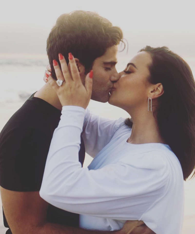Demi Lovato announces engagement with beau Max Ehrich with these dreamy pictures