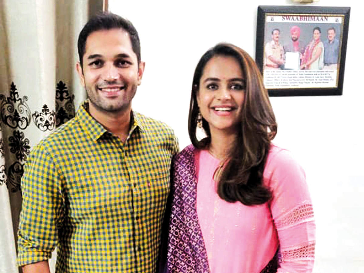 Prachi Tehlan said she and Rohit Saroha (right) reconnected during  the lockdown and plan to marry in August