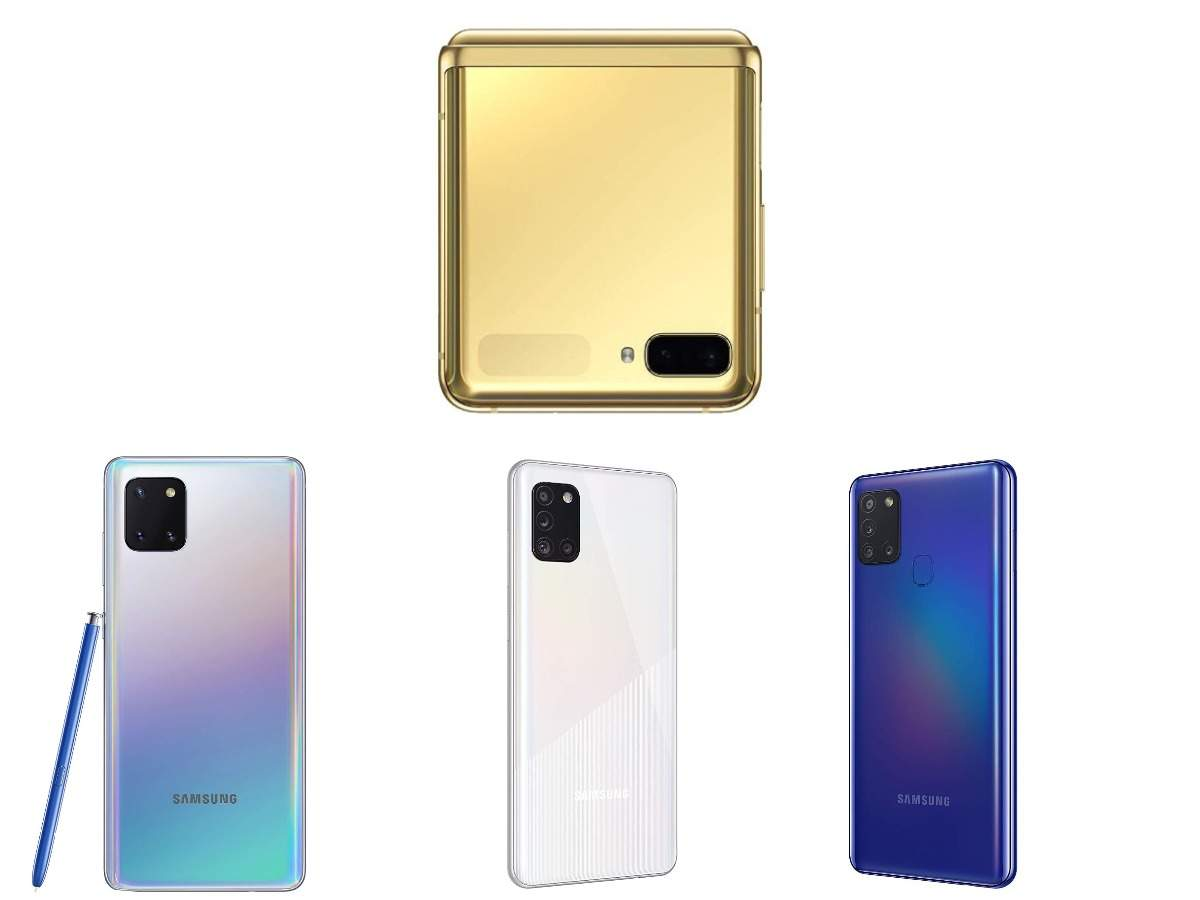 Samsung Galaxy Z Flip, Galaxy Note 10 Lite and three Galaxy A-series phones that have received a price cut