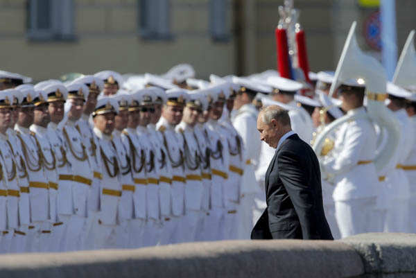 Spectacular pictures from Russia's Navy Day celebrations